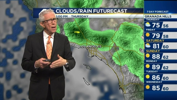 [LA] PM Forecast: Showers, Warmer Temps