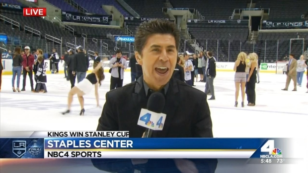 Woman OK After Falling on Ice After Kings Game
