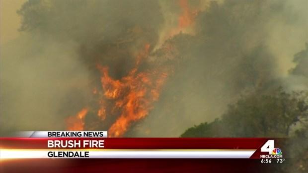 [LA] Fire Chars Hills North of Glendale