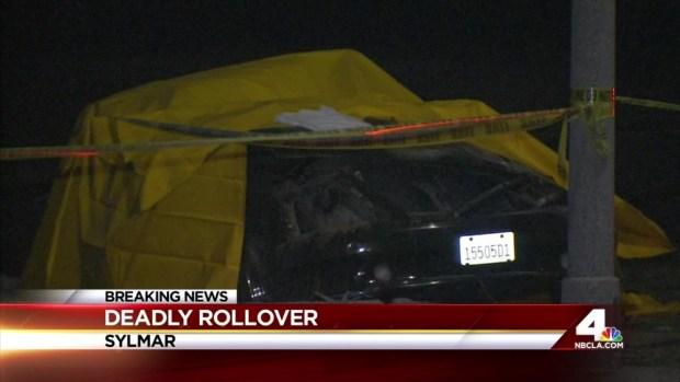 2 Killed, 2 Hurt in Sylmar Rollover Crash