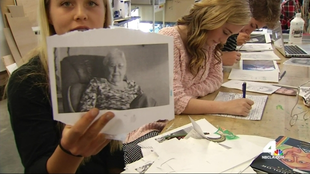 [LA] Students Learn About Life, History at Retirement Home
