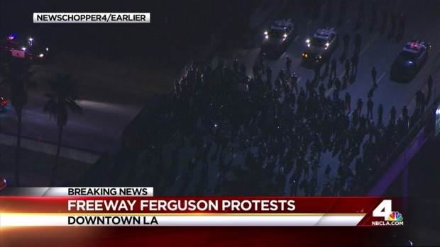 [LA] LA Ferguson Protesters Shut Down 101 Freeway