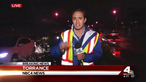 [LA] Storm Brings  Flooding to Torrance