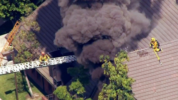 Fire Rips Through Mormon Church in Glassell Park