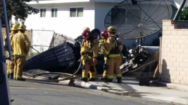 Small Plane Crash Lands in Riverside