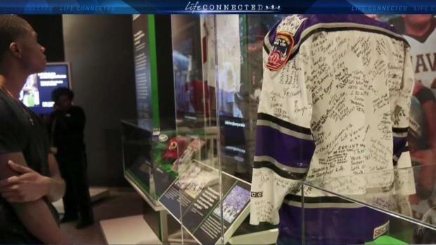 [LA] 17-Year-Old LA Kings Jersey on Display At 9/11 Memorial