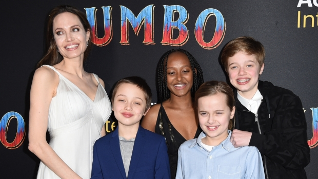 [NATL-AH] Jolie Shows Steps Out for 'Dumbo' Premiere With Her Kids