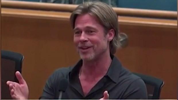 [NATL] 'Wrap it Up': Brad Pitt Cut Off Mid-Speech at LA County Board Meeting