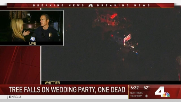 [LA] 1 Dead After Tree Falls on Wedding Party in Whittier