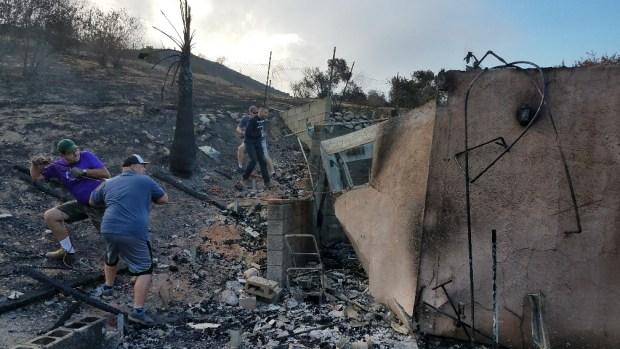 La Tuna Fire Scorches San Fernando Valley Hillsides