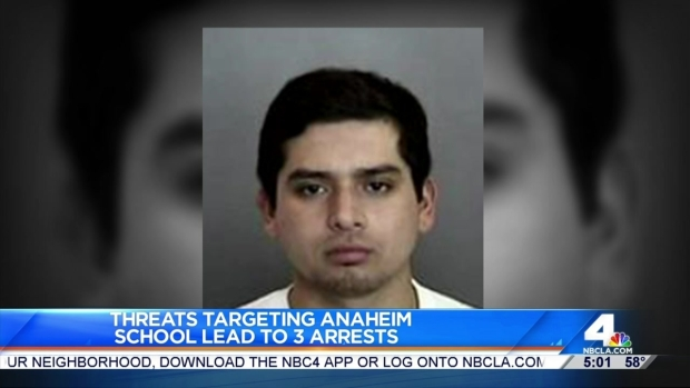 [LA] Teen Among 2 Arrested in Threats at OC School