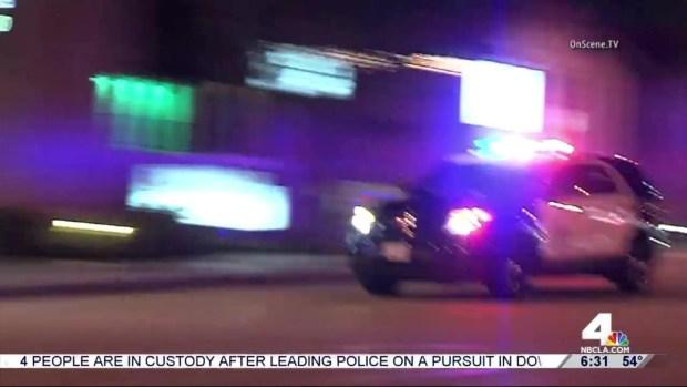 [LA] 4 Arrested After High Speed Pursuit