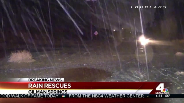 [LA] 14 Rescued After Flash Flood Washes Out Riverside County Road