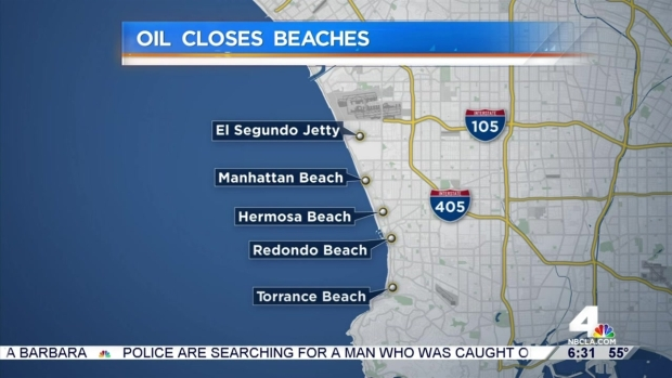 [LA] Beaches Closed for Oil Cleanup