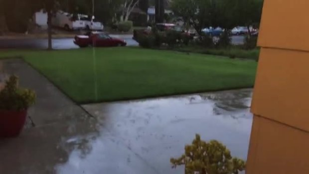 Watch: Summer Rain in Newhall