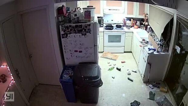 Winds Throw Trampoline Through Window in Richardson Home