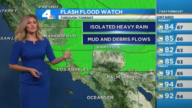 [LA] AM Forecast: Hot, Humid, Rainy Monday