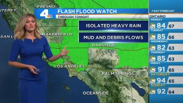 [LA] AM Forecast: Hot, Humid, Rainy Monday