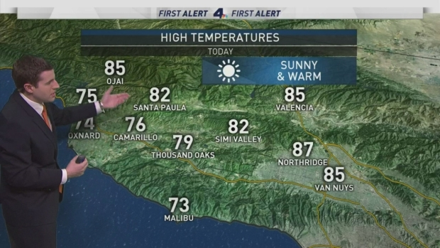 [LA] AM Forecast: Warm Temperatures Continue
