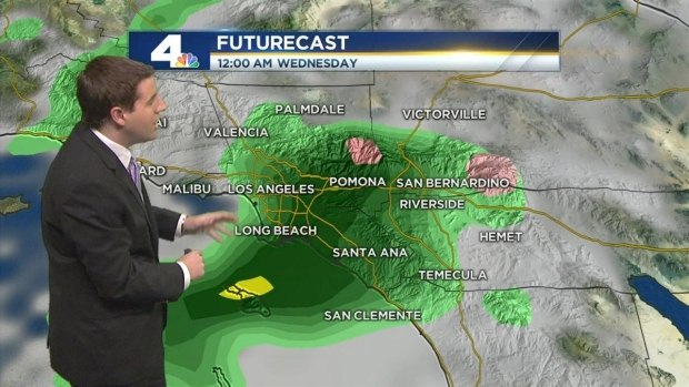 [LA] AM Forecast: Rain to Arrive in the Evening