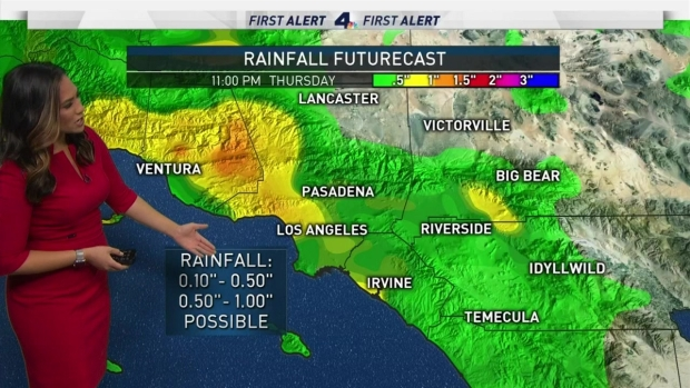 [LA] AM Forecast: Rain and Chance of Thunderstorms