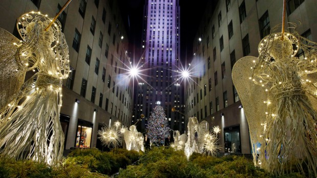 Rockefeller Center Tree Illuminated At Star-Studded