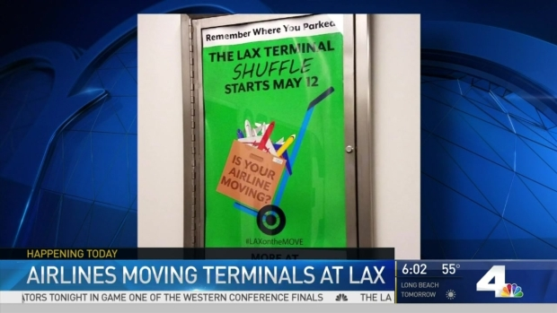 Airlines, Passengers Prepare for LAX Terminal Shuffle