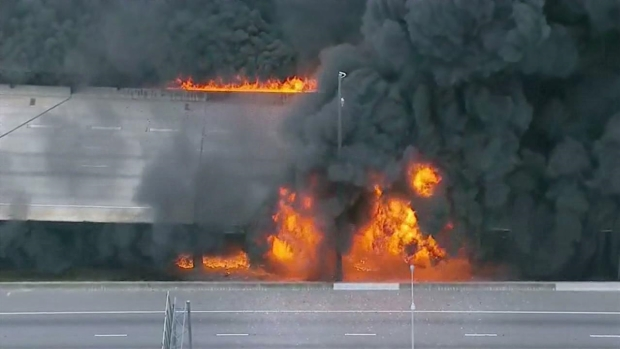 [DFW] Massive Fire Causes Bridge to Collapse on Atlanta Interstate