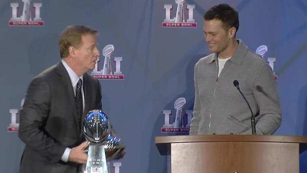 [NATL-NECN] Goodell: 'Tom, Come On Up and Get Your Trophy'
