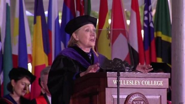 [NATL-NECN] Clinton Talks Post-Election Activity, Including Chardonnay