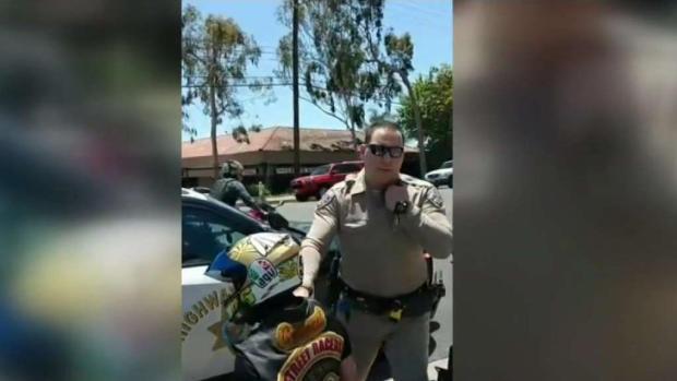 [LA] Biker Crashes with CHP Vehicle