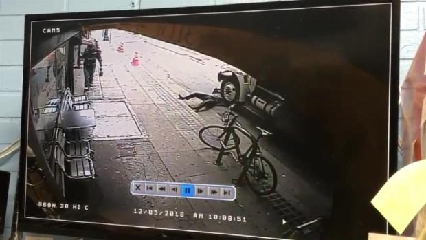 [LA] Man Pushed Off Sidewalk into Path of Truck in Downtown LA