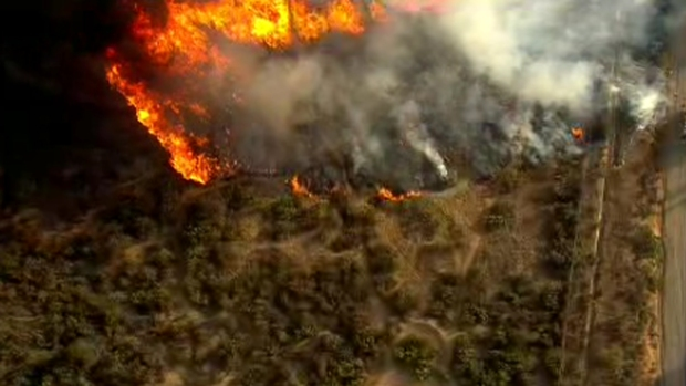 [G]Brush Fires Burn Along I-8 in East County