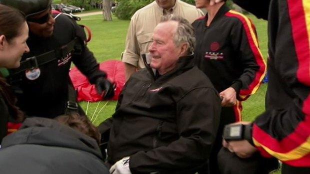 [DFW] Jenna Bush Hager on Bush Parachute Jump