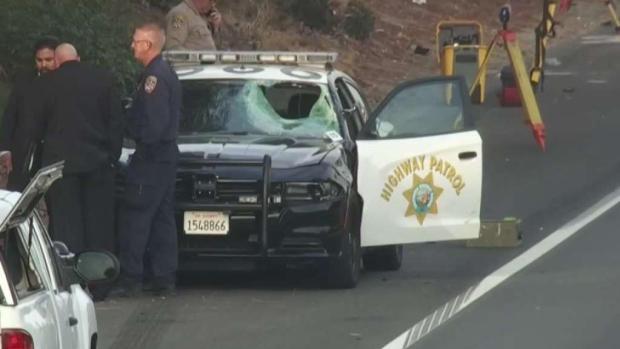 [LA] CHP Cruiser Strikes Passenger Who Got Out of Uber Ride on Freeway
