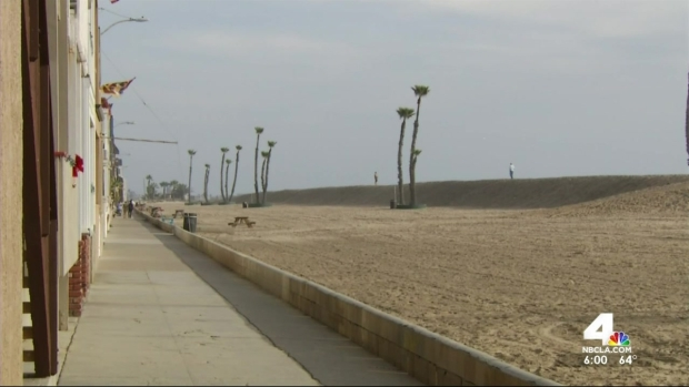 [LA] Seal Beach Preps for Storm With Sand Berms