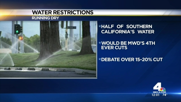 [LA] MWD to Vote on Water Cutbacks for SoCal
