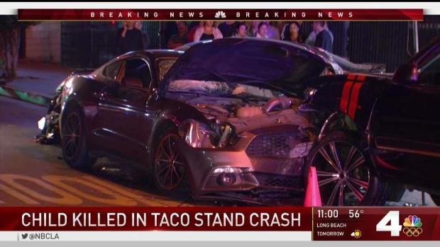 Four Injured in Crash in Front of Boyle Heights Taco Truck