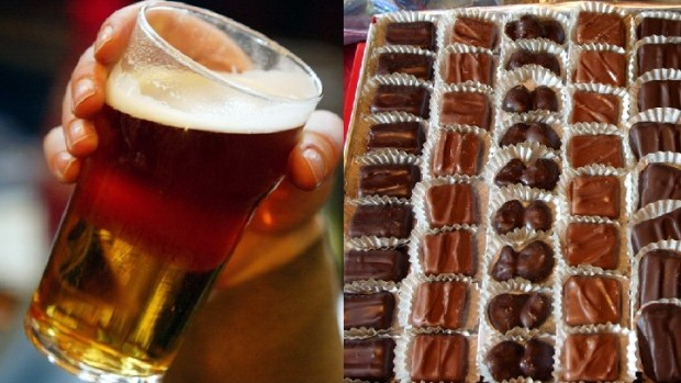 Valentine's Beer and Chocolate