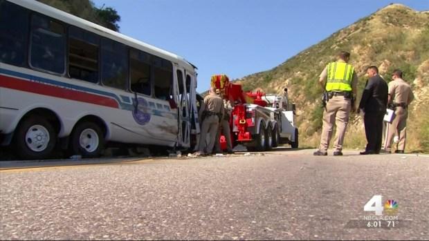 Church Bus Rollover Crash in San Bernardino Mountains Hospitalizes
