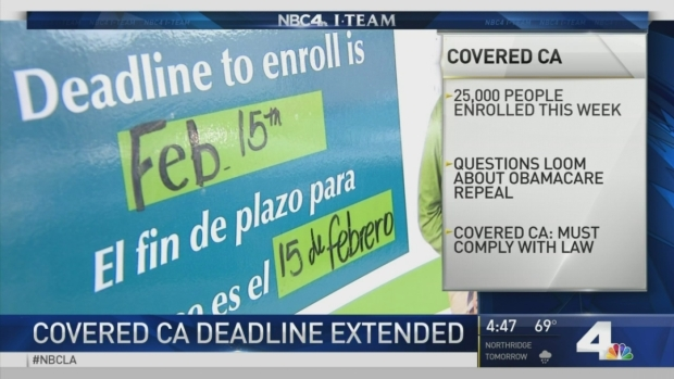 [LA] Covered California Deadline Extended