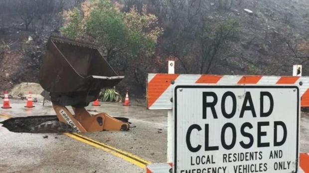 [LA] Crews Work to Clean Malibu's Mud Clogged Roads