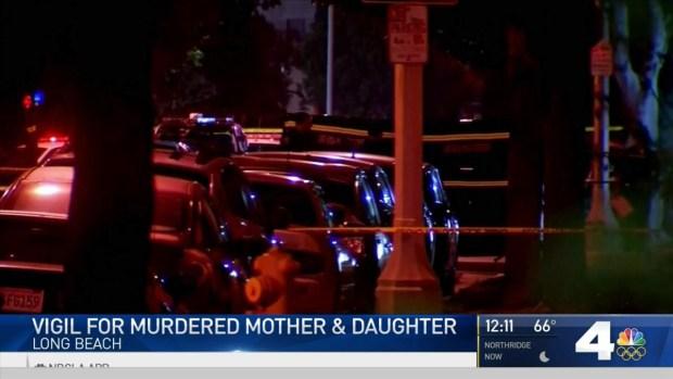 [LA] Crowd Gathers at Vigil After Girl Mom Shot to Death