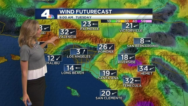 [LA] AM Forecast: Red Flag Warning Extended