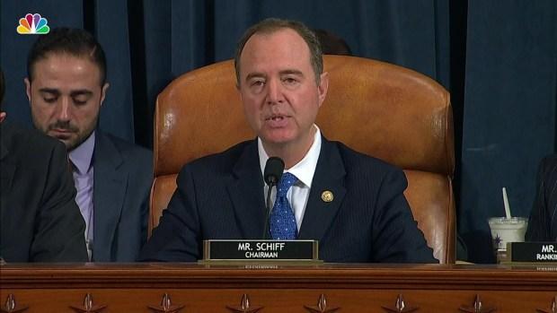 [NATL] WATCH: Adam Schiff's Opening Statement From Impeachment Hearing With Sondland
