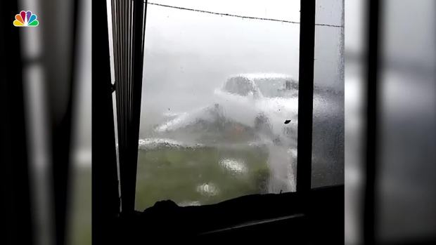 [NATL] Florida Woman Watches From Inside Her Home as Hurricane Hits