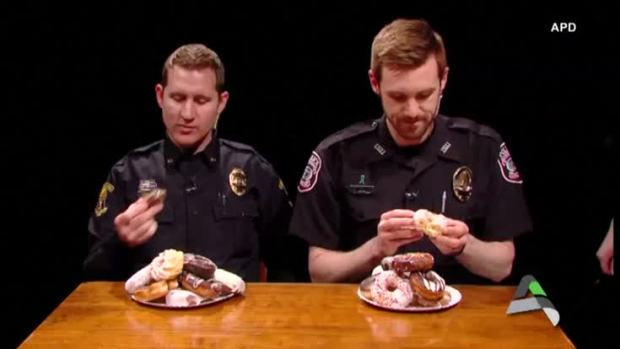[NATL] Iowa Police 'Donut' Video Goes Viral