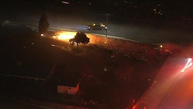 Sierra Fire Grows To 147 Acres In Rialto Fontana Area Nbc