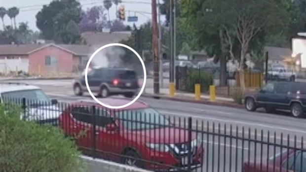 [LA] Video Shows Woman Walking Away From Deadly North Hills Crash