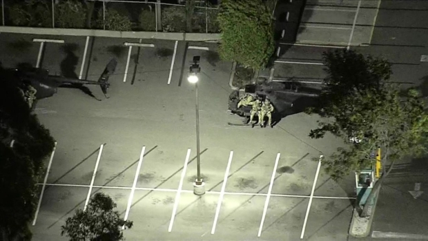 [LA] U.S. Army Performs Military Training Near LA Live, Staples Center